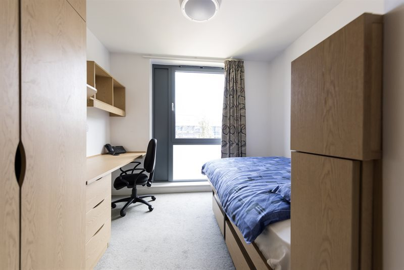 A bedroom in Horton Halls.