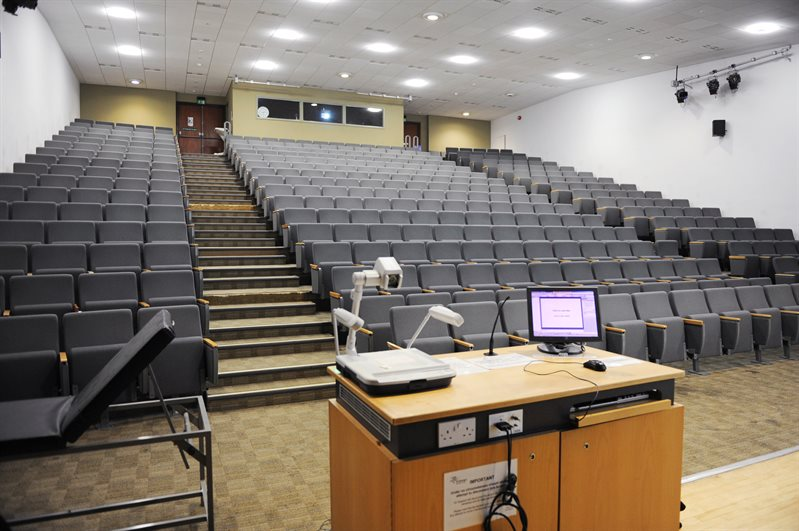 An empty lecture theatre.