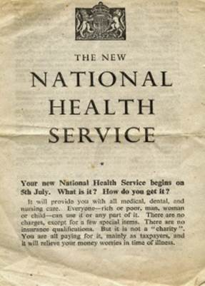 A flyer introducing the NHS.