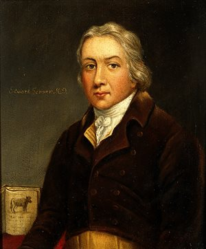 A portrait of Edward Jenner.