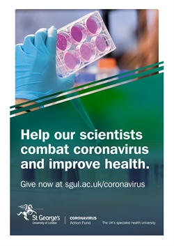 Help our scientists combat coronavirus and improve health.