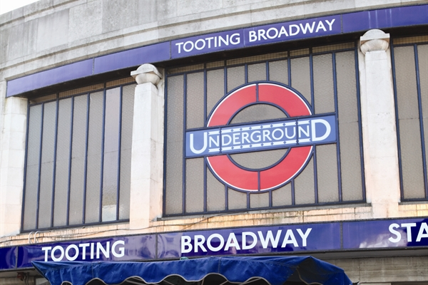 A photo of Tooting Broadway underground station.